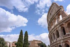 Le vieux Colosseum à Rome, les gladiateurs combattent Photo stock