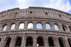 Le vieux Colosseum à Rome, les gladiateurs combattent Photo libre de droits