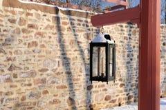 Le vieux courrier de lampe photographie stock libre de droits