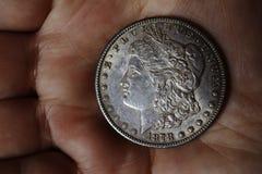 Le vieux dollar américain argenté de 1878 Images stock