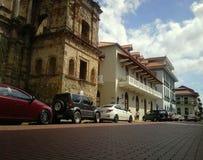 Le vieux et le nouveau à Panamá City Image libre de droits