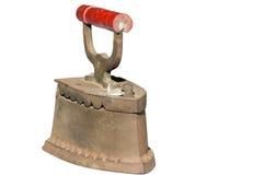 Le vieux fer de fer s'est rouillé le fond blanc Photos libres de droits