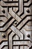 Le vieux fer en bois âgé de trappe handcraft le deco photographie stock