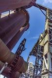 Le vieux fer fonctionne des monuments dans Neunkirchen du 20ème centu en retard photo libre de droits