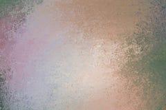 Le vieux fond de papier brun et gris orange rose vert, grunge de couleur foncée a affligé le pourpre de pêche de frontières textu illustration stock