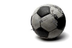 Le vieux football Photographie stock