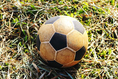 Le vieux football Images libres de droits
