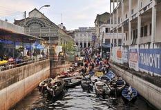 Le vieux marché de pêcheurs de Manaus Images stock