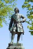 Le vieux monument de sculpture de Peter le premier Kronstadt photo stock