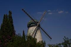 Le vieux moulin à vent de Jérusalem Image libre de droits