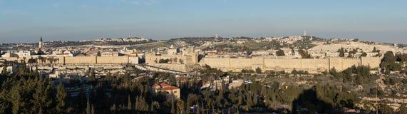 Le vieux mur de ville de Jérusalem images libres de droits