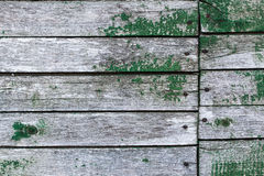 Le vieux mur des planches en bois avec la peinture a fendu Image libre de droits
