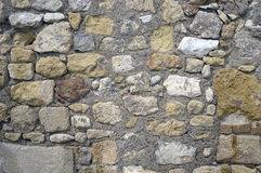 Le vieux mur en pierre apprête des milieux de texture, la texture 36 Photos libres de droits