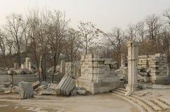 Le vieux palais d'été, Yuan Ming Yuan les jardins des jardins impériaux parfaits de Dashuifa Guanshuifa d'éclat dans Pékin Chine Image libre de droits