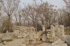 Le vieux palais d'été, Yuan Ming Yuan les jardins des jardins impériaux parfaits de Dashuifa Guanshuifa d'éclat dans Pékin Chine Images stock