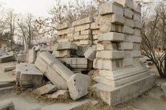 Le vieux palais d'été, Yuan Ming Yuan les jardins des jardins impériaux parfaits de Dashuifa Guanshuifa d'éclat dans Pékin Chine Photos stock