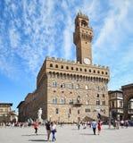 Le vieux palais (Palazzo Vecchio), Florence (Italie) Images libres de droits