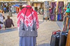 Le vieux Palestinien Photographie stock libre de droits