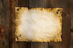 Le vieux papier a coupé sur le fond de panneaux horizontal Images stock