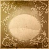 Le vieux papier de type floral donne à la trame une consistance rugueuse Images libres de droits
