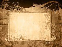 Le vieux papier de type floral donne à la trame une consistance rugueuse Image stock