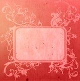 Le vieux papier de type floral donne à la trame une consistance rugueuse Photographie stock