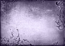 Le vieux papier de type floral donne à la trame une consistance rugueuse Photo stock