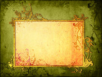 Le vieux papier de type floral donne à la trame une consistance rugueuse Photographie stock libre de droits