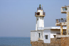 Le vieux phare (Fanar) en pneu, Liban Photos stock