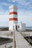 Le vieux phare près de Gardskagi, Islande Photos libres de droits