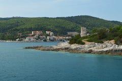 Le vieux phare vénitien de Fiskardo Images stock