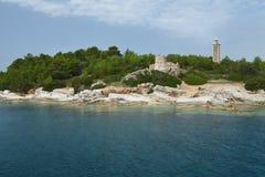 Le vieux phare vénitien de Fiskardo Photos stock