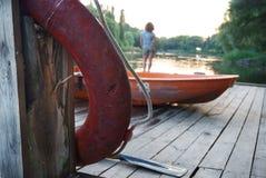 Le vieux pilier Image stock