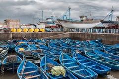 Le vieux port d'Essaouira, Maroc Image stock
