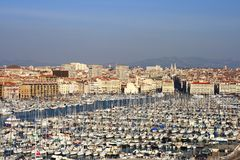 Le vieux port de Marseille Photo libre de droits