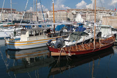 Le vieux Port in Marseilles Stock Photo