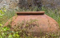 Le vieux pot de Pythari Photo stock