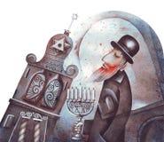 Le vieux rabbin illustration de vecteur