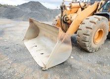 Le vieux seau de l'excavatrice liberia Images stock