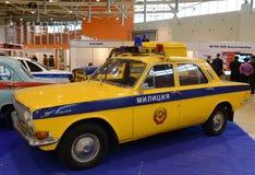 Le vieux ` soviétique de Volga de ` de la voiture de police GAZ-24 Photographie stock