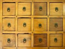 Le vieux tiroir en bois Images libres de droits