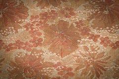 Le vieux tissu de tapisserie a teinté la sépia avec l'effet de dégradé comme backg Photographie stock