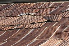 Le vieux toit rouillé Image libre de droits