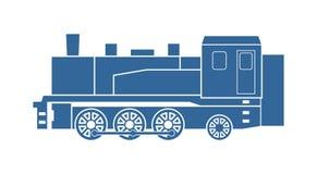 Le vieux train de machine à vapeur Photo stock