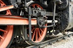 Le vieux train de machine à vapeur Image stock