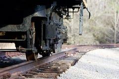 Le vieux train se déplace Images libres de droits