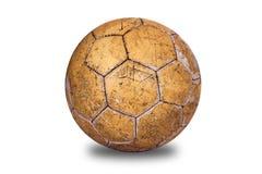 Le vieux, utilisé football image libre de droits
