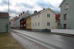 Le vieux Västervik Image libre de droits