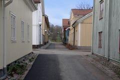 Le vieux Västervik Photo stock