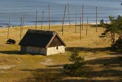 Le vieux village de pêche photographie stock libre de droits